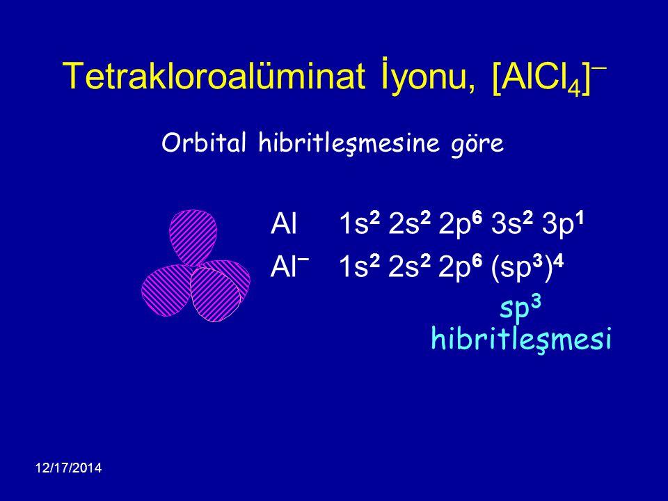 Tetrakloroalüminat İyonu, [AlCl4]¯